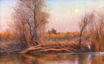 Eleinne Basa - February Moonrise - oil on canvas - 20 x 32