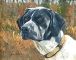 Bob Bertram - Bird Dog - oil on canvas - 8 x 10