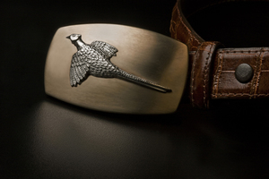Sterling Silver Belt Buckle - Pheasant - Ansell Bray