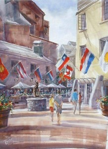 Rod Crossman - Beaver Creek - watercolor - 24 x 18