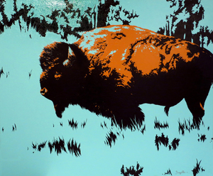 Bregelle Whitworth Davis -  Buffalo - acrylic on canvas - 30 x 36