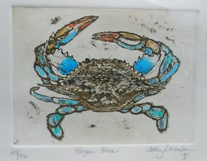 Cathey December - Bayou Blue - etching/drypoint - 11 x 14