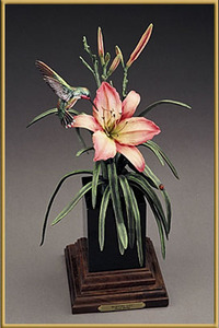 Frank DiVita - Morning Lily - bronze - 16.5 x 9 x 8