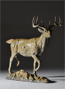 Mick Doellinger - In the Fall - bronze - 20.5 x 8.5 x 22.5