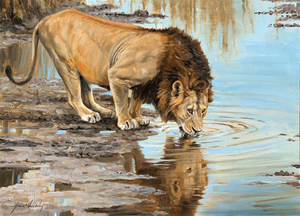 Grant Hacking - A Drink For The King - oil on linen - 18 x 24