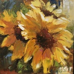 David W. Jackson - A Little Sun - oil on canvas - 11 x 11