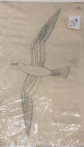 Rockwell Kent - Seagull - graphite/carbon pencil - 18 x 9