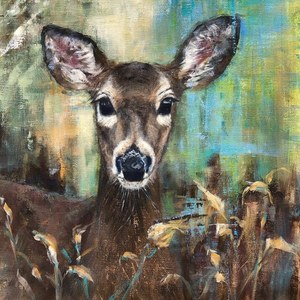 Sue Key - Dear Doe - Acrylic on Linen - 25 x 22
