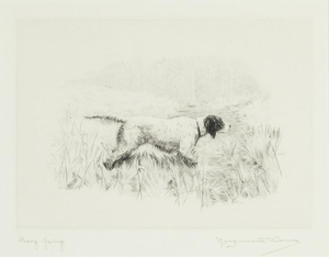 Marguerite Kirmse - Heavy Going - etching/drypoint - 6.25 x 9