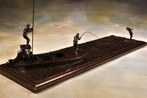 Liz Lewis - Bow to the King - bronze - 10 x 30 x 8.75