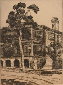 Walter Ronald Locke - In Beaufort, S.C. - etching/drypoint
