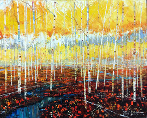 Patrick Matthews - Crimson Forest - oil on canvas - 30 x 40