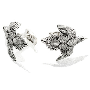 Grainger McKoy - Dove Cuff Link Pair - sterling silver