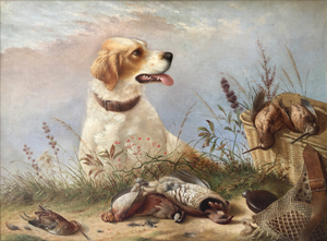 Henry Dutton Morse - After the Hunt - oil on canvas - 30 x 40 inches