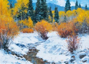 Ralph Oberg - First Snow - oil on panel - 12 x 16