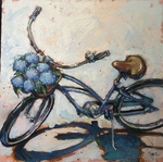 Trip Park - Abandoned Bike - mixed media - 36 x 36