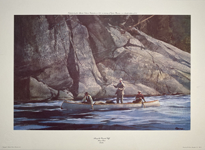 Ogden M. Pleissner - Along the Granite Cliff - print - 15 x 23