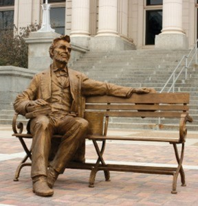 Abraham Lincoln Bench - Gary Lee Price