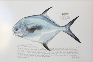 Paul Puckett - 1st of The Day Permit - watercolor - 20 x 30