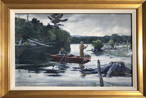 Aiden L. Ripley - A Fine Day for Fishing - watercolor - 21.06 x 30.13