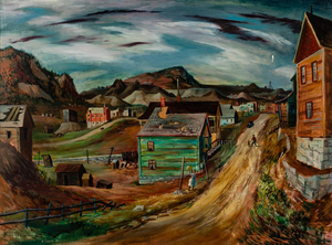 Frederick Shane - Victor, Colorado - oil on masonite - 30 x 40.5