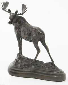 Tim Shinabarger - Alerted - bronze - 7 x 7 x 3.5