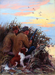 Frank Stick - In the Marshes - oil on canvas - 35 x 25.98