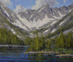 Dan Young - Blue Lakes - oil on linen - 10 x 12