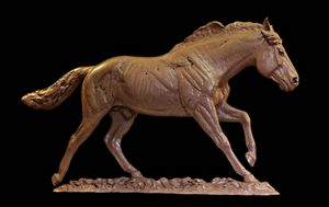Rod Zullo - A Horse With No Name - bronze